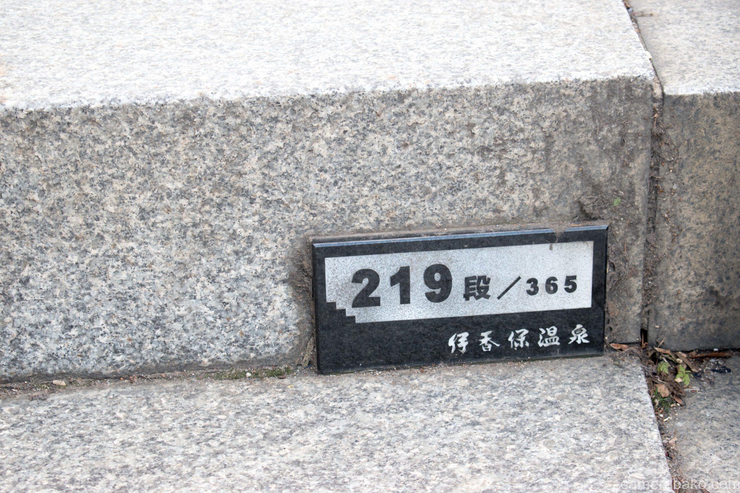 伊香保温泉 これより石段 参百六十五段